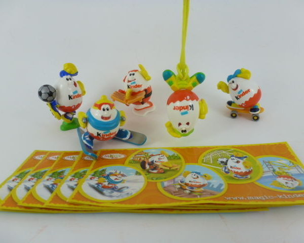 Kinder Surprise Kinderino Eiermann Sport Testware & 5 BPZ Complete Set 2008 RARE