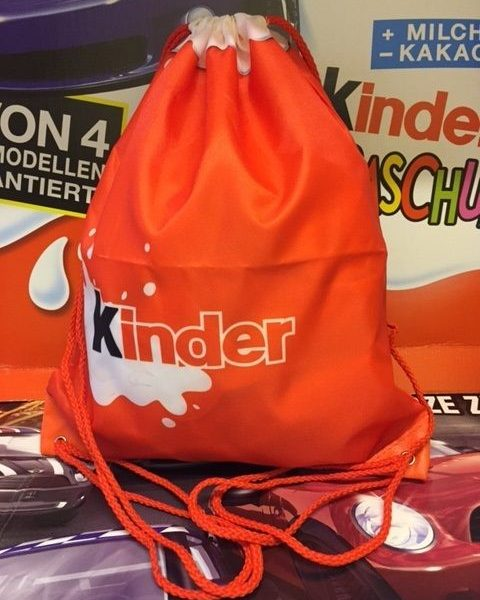 Kinder Surprise Drawstring School Sack Bag LIMITED EDITION MALAYSIA 2016 RARE