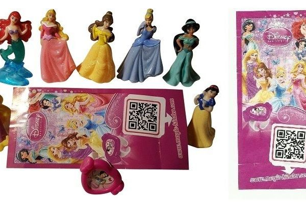 Kinder Surprise Disney Princess Limited Edition Girls Complete Set CHINA RARE