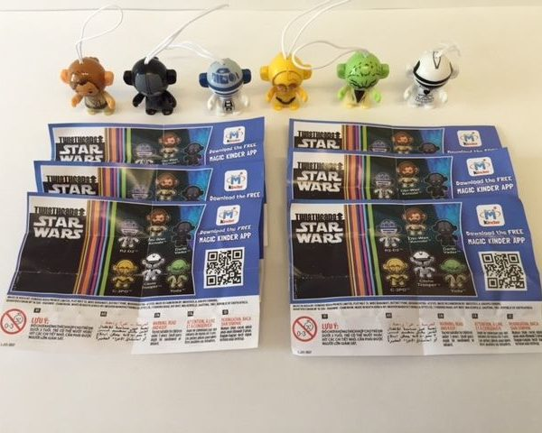 Star Wars Kinder Surprise Joys Toys Complete Set & 6 BPZ 2016 INDIA Very Rare