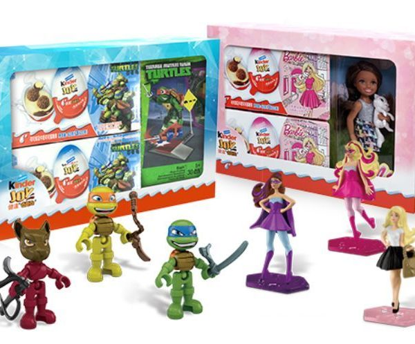 Kinder Surprise Joy Gift Pack TMNT/BARBIE Toys Ltd Edition Boys/Girls CHINA RARE