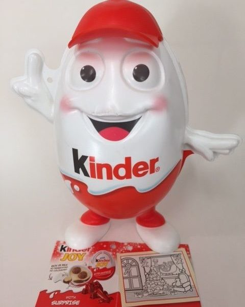 Kinderino Mascot Eggman Kinder Surprise egg Limited Edition 2013 INDIA Very Rare