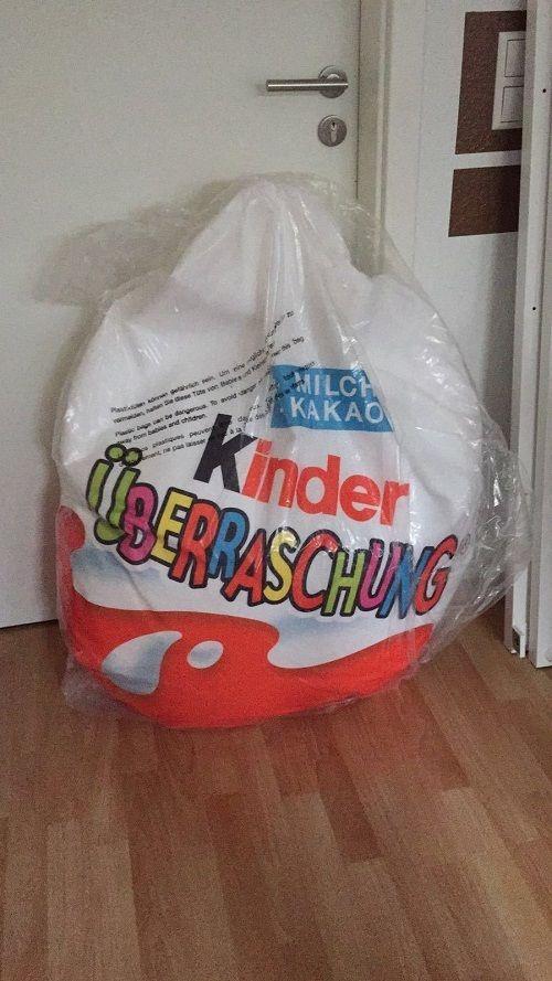 Kinder Egg Chair.Kinder Surprise Kids Bean Bag Limited Edition 2016 Germany Collectors Item Rare