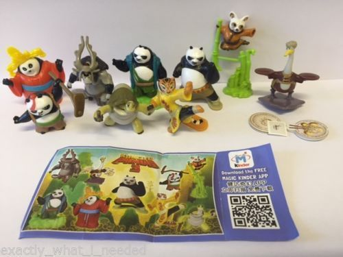 Kinder Surprise Kung Fu Panda 3 Limited Edition Complete Set CHINA 2016 RARE